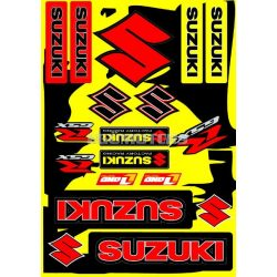 Suzuki matricaszett, A4-es, sárga