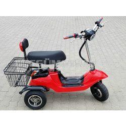 Elektromos tricikli, 3 fokozattal, hátramenettel, kosárral