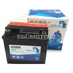 Exide AGM zselés akkumulátor YTX5L-BS, ETX5L-BS