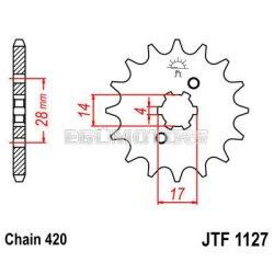 JT első lánckerék, 1127.12