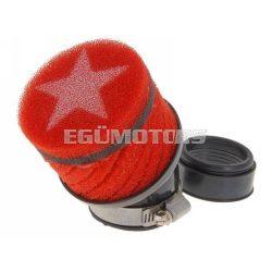 Stage6 csavart légszűrő, Piros, 44 mm