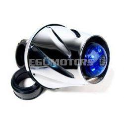 Helix LEDes légszűrő, Króm-kék ledekkel