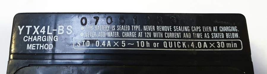 Akkumulátor töltési értékek, Yuasa
